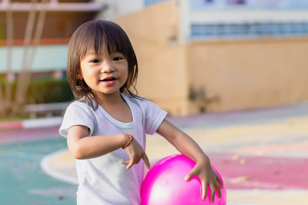 Asian baby child girl playing